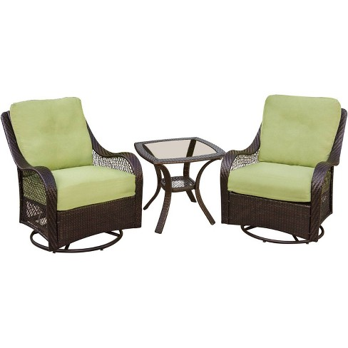 Orleans 3pc Swivel Gliders Patio, Outdoor Glider Patio Set