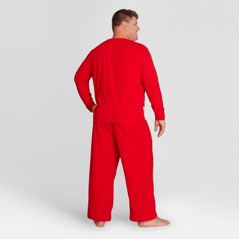 mens big tall holiday santa pajama set wondershop red target