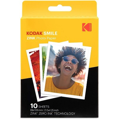 Kodak 3.5x4.25 inch Premium Zink Print Photo Paper  Compatible with Kodak Smile Classic Instant Camera