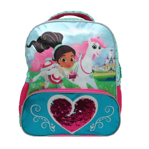 "Nella the Princess Knight 14"" Royal Heart Kids' Backpack - Pink - image 1 of 4"