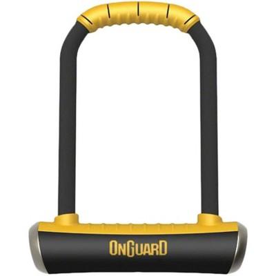 "OnGuard PitBull Series U-Lock 4.5 x 9"" Black/Yellow"