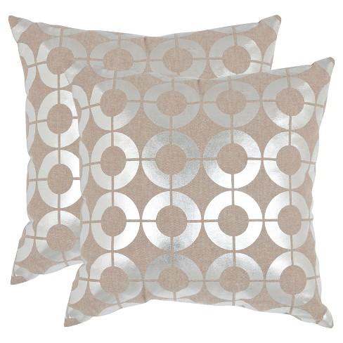Silver Bailey Throw Pillows - 2pk - Safavieh® - image 1 of 1