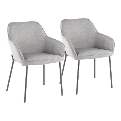 Set of 2 Daniella Contemporary Dining Chair Gray - LumiSource