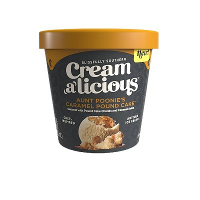 Creamalicious Aunt Poonies Caramel Pound Cake Ice Cream - 16oz