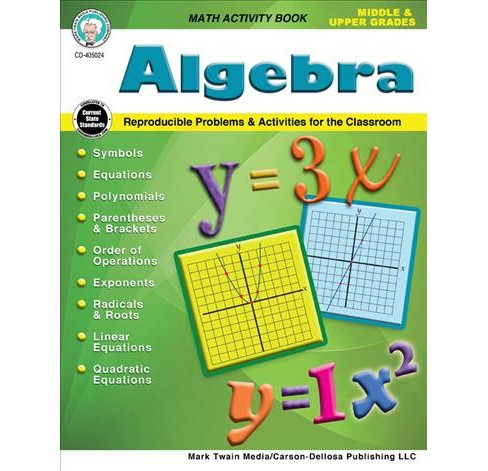 Algebra Middle & Upper Grades : Reproducible Problems & Activities for the Classroom -  (Paperback) - image 1 of 1
