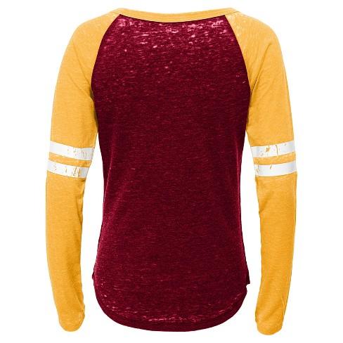NFL Washington Redskins Girls  Fashion Team Alt Color Burnout Long Sleeve T- Shirt   Target 757da25c6