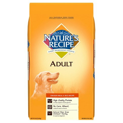Natures Recipe Chicken Meal And Rice Adult Dry Dog Food Target