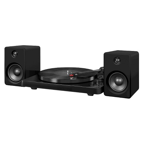 Victrola Modern Record Player with Bluetooth, 50 watt Speakers and 3 Speed Turntable, Black - image 1 of 2