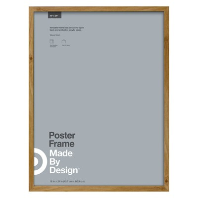 "18"" x 24"" Poster Frame Brown - Made By Design™"