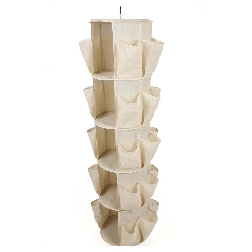 Sorbus closet systems and components Beige Organize your closet in style with the Sorbus closet systems and components Beige. This vertical hanging storage organizer helps keep your closet neat, and easy on the eyes. It makes for handy storage to keep your stuff easily accessible, making it perfect for clothing, footwear and accessories. Made from strong fabric, it is durable and makes for some sturdy storage.