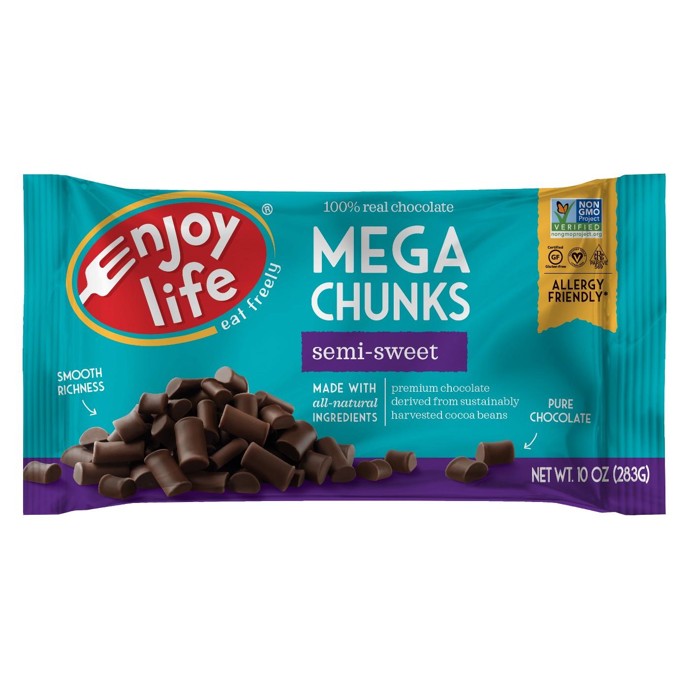 Enjoy Life Mega Chunks Semi-Sweet Baking Chocolate - 10oz - image 1 of 1