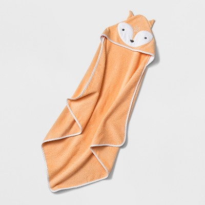 Baby Fox Hooded Towel - Cloud Island™ Orange