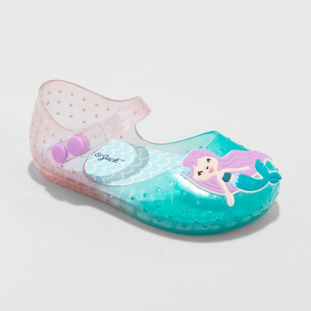 Toddler Girls' Fontaine Mermaid Mary Jane Jelly Sandals - Cat & Jack Mint (Green) 6