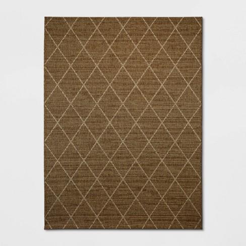 Indoor/Outdoor Diamond Woven Rug - Threshold™ - image 1 of 4
