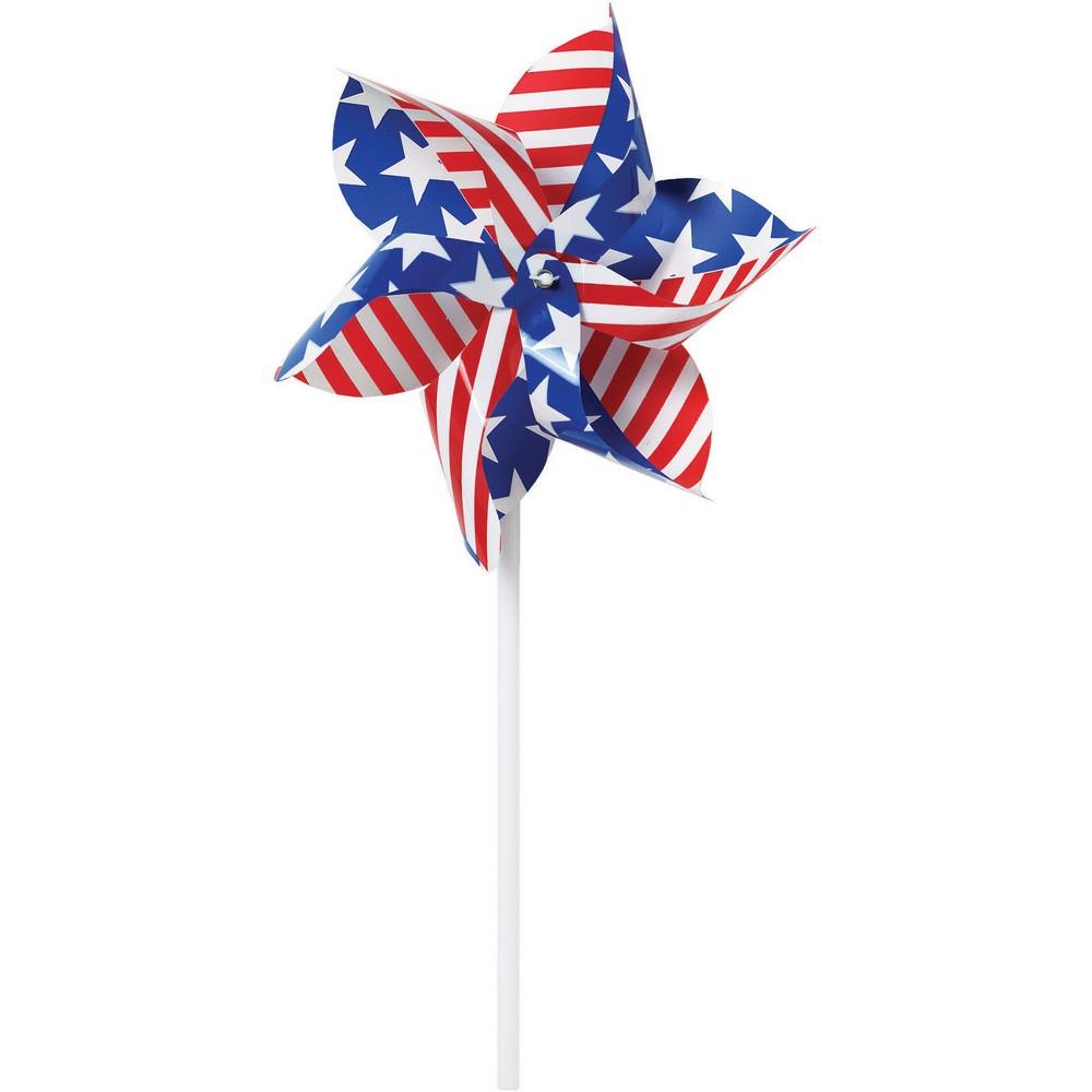 Image of Patriotic Pinwheels, White Red Blue