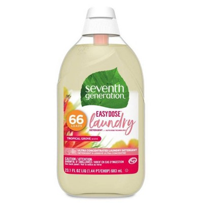Seventh Generation EasyDose Ultra-Concentrated 66-Loads Laundry Detergent Tropical Grove - 23.1 fl oz