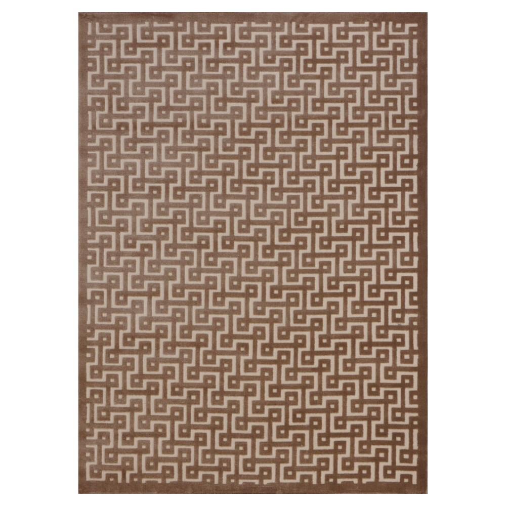 Nourison Geometric Ladder Ultima Accent Rug - Ivory/Mocha (Ivory/Brown) (3'6