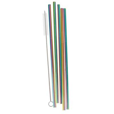 Reusable Metal Rainbow Straw