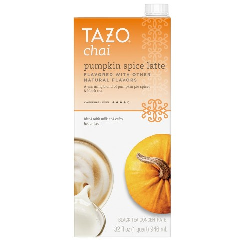 Tazo Chai Pumpkin Spice Latte Tea Concentrate - 32 fl oz - image 1 of 3