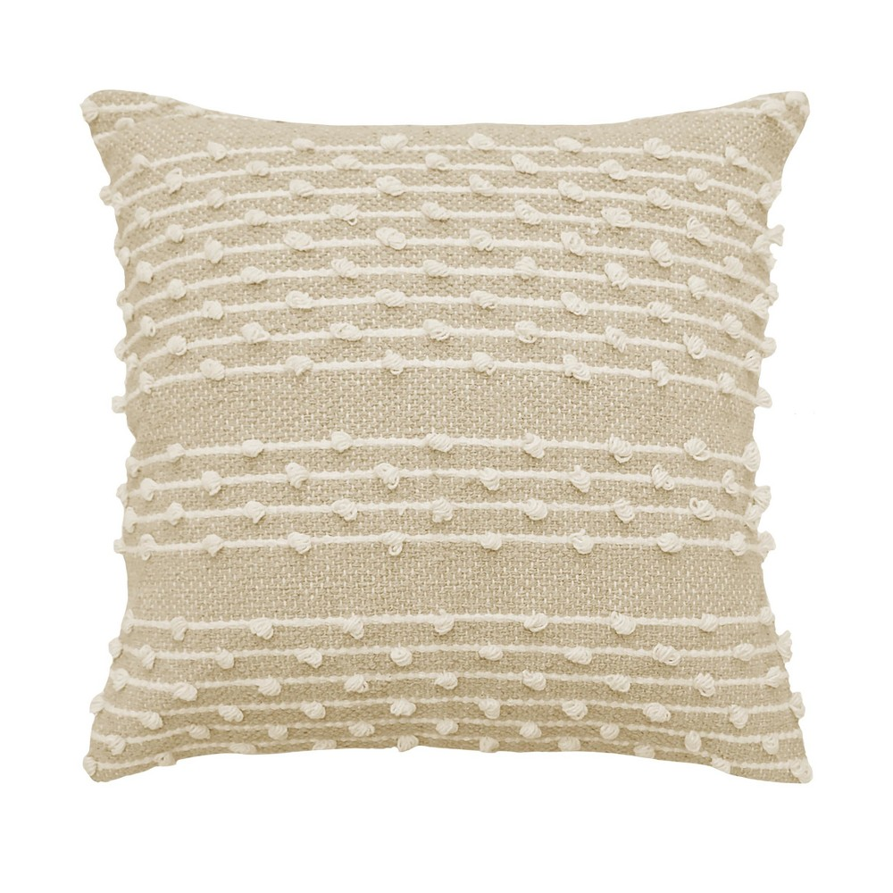 Pemberly Embellished Throw Pillow Beige - Beautyrest