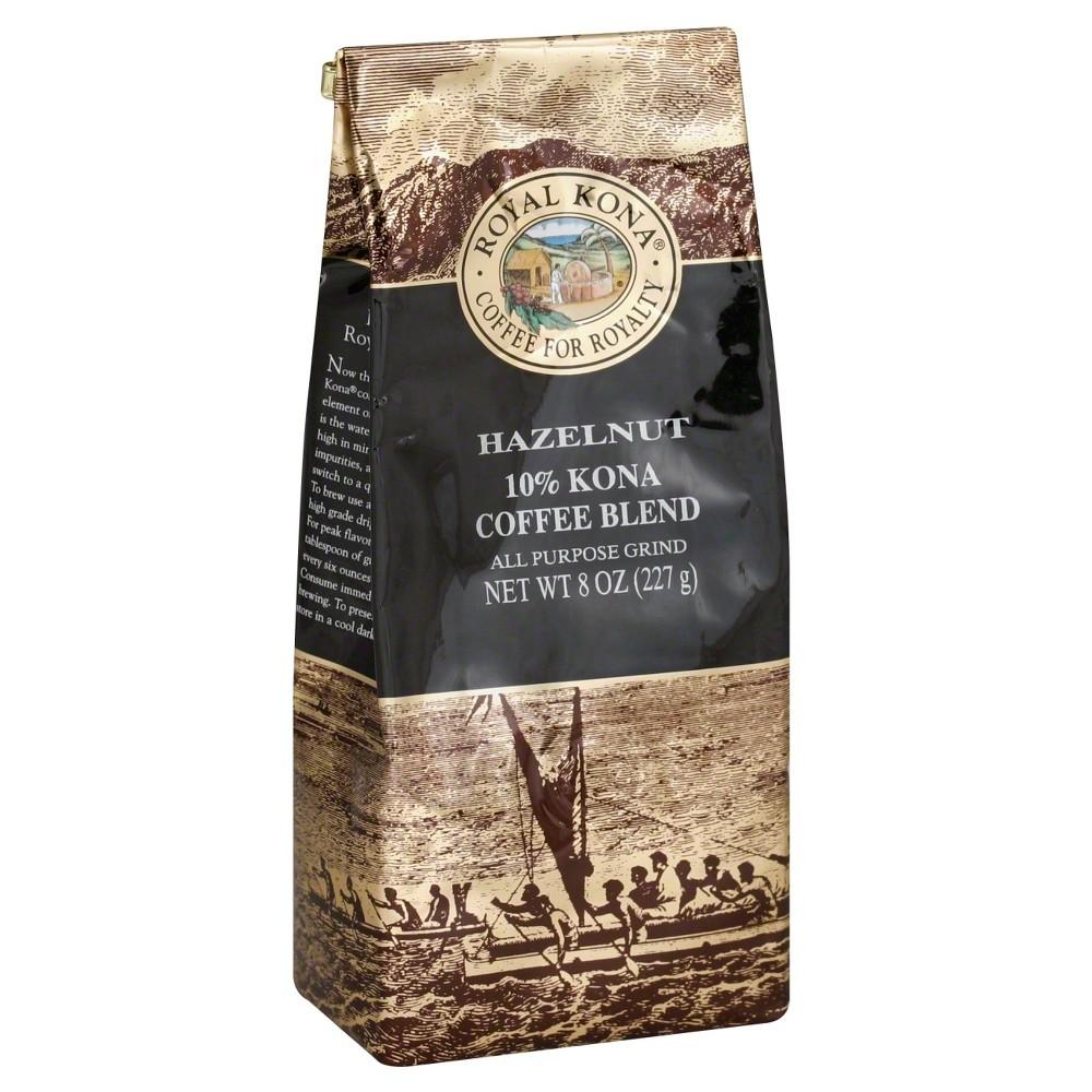 Royal Kona Hazelnut Medium Roast Ground Coffee 8oz