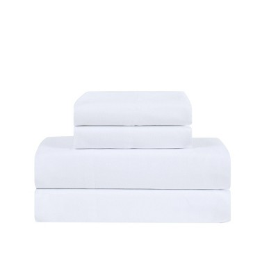Queen Antimicrobial Microfiber Sheet Set White - Truly Calm