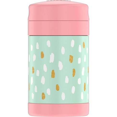 Thermos 16oz Painted Dots FUNtainer Food Jar - Pink/Green - image 1 of 4