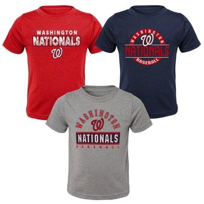 MLB Washington Nationals Toddler Boys' 3pk T-Shirt Set