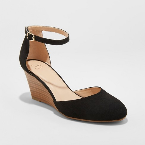 Women's Wendi D'Orsay Closed Toe Wedge Heels - A New Day™ - image 1 of 3