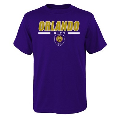 MLS Orlando City SC Boys' Short Sleeve Purple T-Shirt