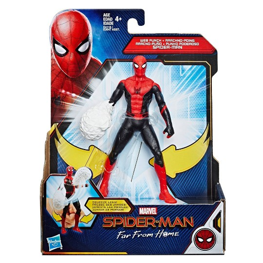 """Marvel Spider-Man: Far From Home Web Punch Spider-Man 6"""" Scale Action Figure Toy image number null"""