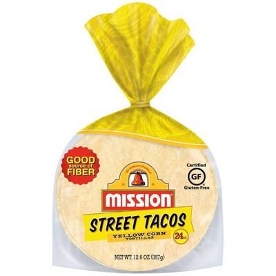 "Mission Gluten Free 4.5"" Street Taco Size Yellow Corn Tortillas - 12.6oz/24ct"