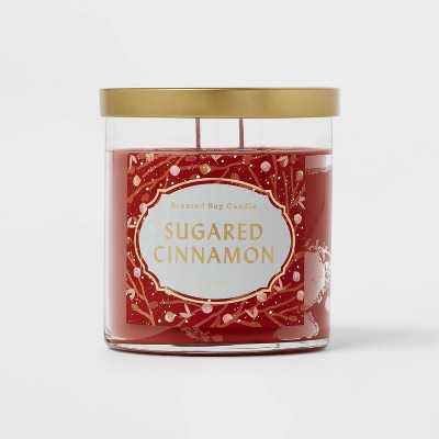 Lidded Glass Jar Sugared Cinnamon Candle - Opalhouse™