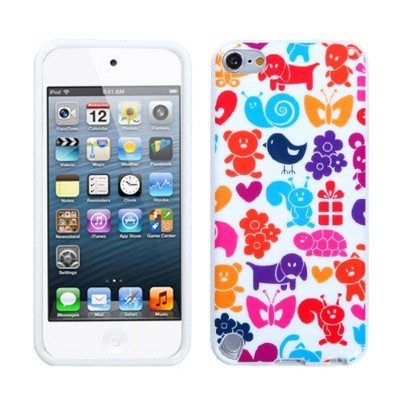 MYBAT For Apple iPod Touch 5th Gen/6th Gen Colorful Animal Paradise Rubber Case Cover