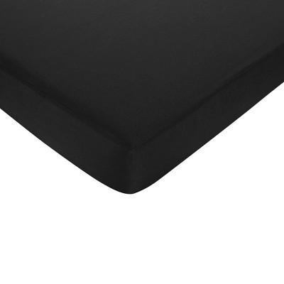 Sweet Jojo Designs Fitted Crib Sheet - Isabella Black & White - Solid Black