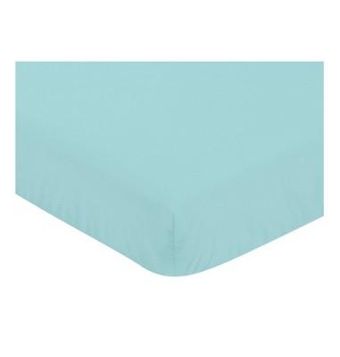 Sweet Jojo Designs Skylar Fitted Crib Sheet -Turquoise