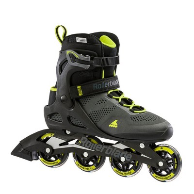 Rollerblade USA 071006001A1-11 Macroblade 80 Men's Adult Fitness Adjustable Outdoor Recreation Inline Skate with Power Strap, Size 11, Lime