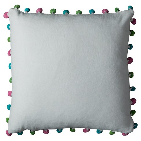 "Poms Throw Pillow (18""x18"") - Rizzy Home® - image 1 of 1"