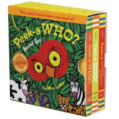 Peek-A Who? Boxed Set - by Nina Laden (Board Book)
