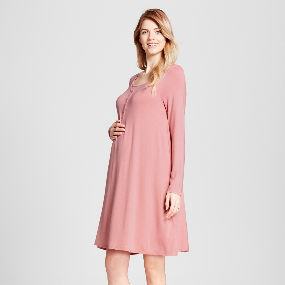 Maternity Nursing Nightgown - Isabel Maternity by Ingrid & Isabel Mauve (Pink) Xxl, Infant Girl's