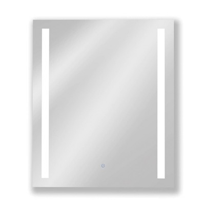 Single Frameless Fixed Color Temp LED Wall Mirror with Anti Fog Glass - Tosca
