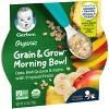 Gerber Organic Grain & Grow Morning Bowl Oats Quinoa Farro Tropical Fruits Baby Meals - 4.5oz - image 3 of 4
