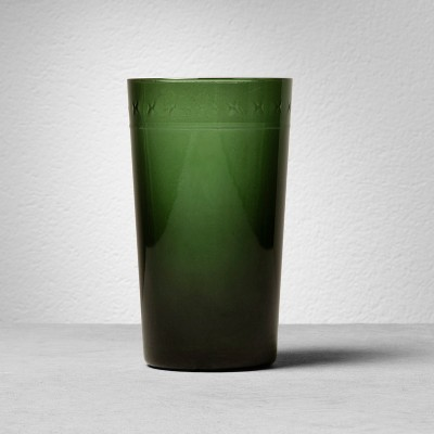 Glass Tumbler X Pattern - Green - Hearth & Hand™ with Magnolia