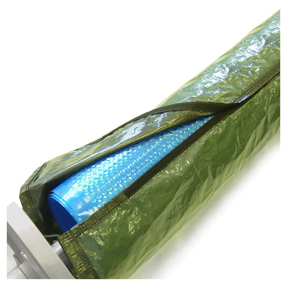 Blue Wave 16-ft Solar Reel and Blanket Winter Cover, Multicolored