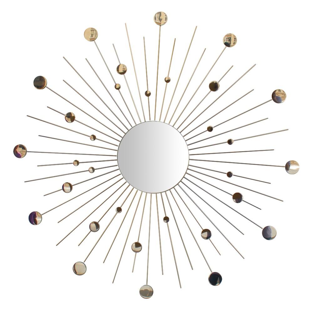 Sunburst Decorative Wall Mirror Silver - No Brand