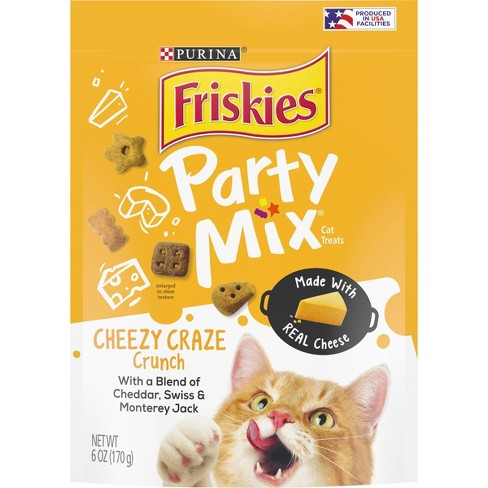 Purina Friskies Party Mix Cheezy Craze Crunch Crunchy Cat Treats - 6oz - image 1 of 4