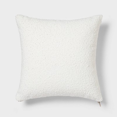Woven Boucle Square Throw Pillow with Exposed Zipper - Threshold™