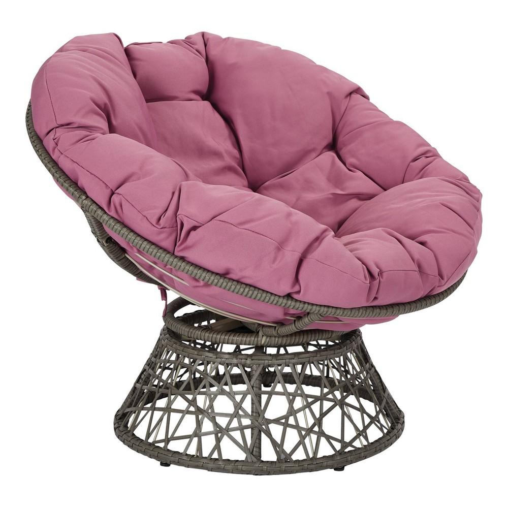 Papasan Chair Purple - OSP Home Furnishings Papasan Chair Purple - OSP Home Furnishings Gender: unisex.