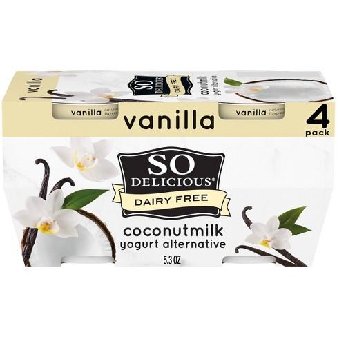 So Delicious Dairy Free Vanilla Coconut Milk Yogurt - 4ct/5.3oz Cups - image 1 of 4
