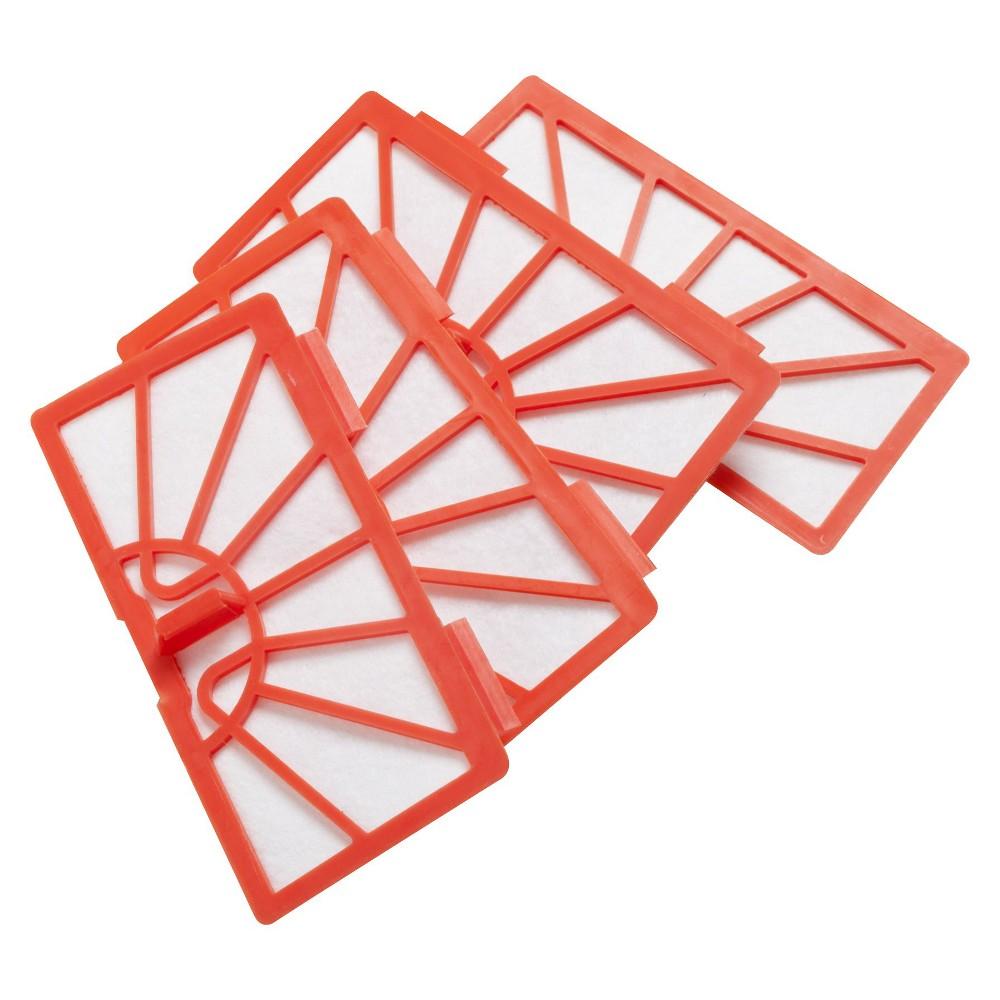 Neato Robotics XV Vacuum Filter - 4 Pack, Orange